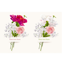 bouquet set vector image vector image