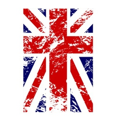 British flag vertical grunge design vector image vector image