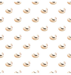 bumper boat swan pattern vector image vector image