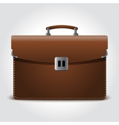 business brown briefcase on blue vector image vector image