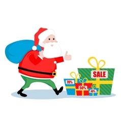 Christmas sale Santa vector image vector image