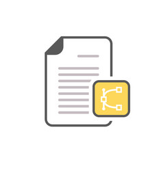 document edit eps file page icon vector image vector image