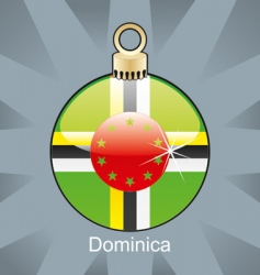 Dominica flag on bulb vector image vector image
