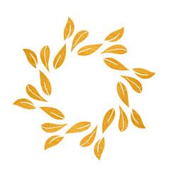 elegant gold textured floral frame vector image