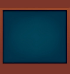empty blue school chalkboard with frame vector image