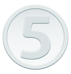 Five coin vector image vector image