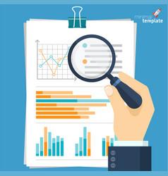 Flat design data search template vector