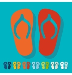 Flat design slippers vector