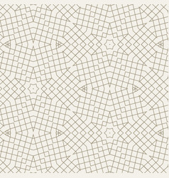 Geometric abstract pattern made with lines vector