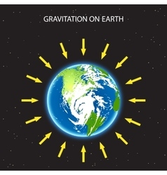 Gravitation on planet earth concept vector