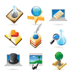 Icon concepts for knowledge vector image vector image