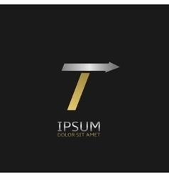 Letter T logo vector image vector image