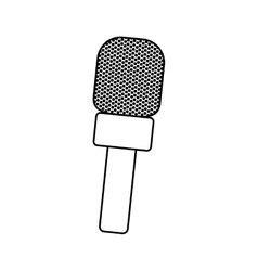 Microphone professional equipment vector image vector image