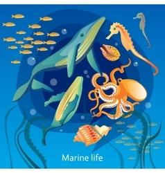 Ocean Underwater Life vector image vector image