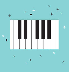 piano keyboard top view musical flat background vector image vector image