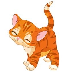 Red kitten vector