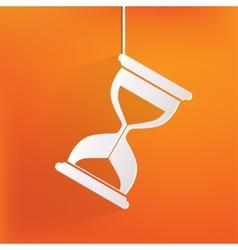 Sand clock icon glass timer symbol vector
