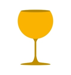 silhouette golden color with drink cocktail glass vector image vector image