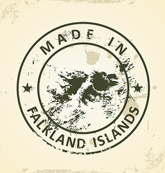Stamp with map of Falkland Islands vector image vector image
