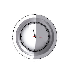 sticker screen chrome stopwatch timer counter icon vector image