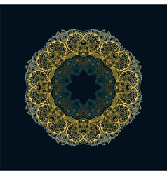 Stylish vintage floral pattern vector image vector image