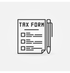 Tax form line icon vector image