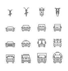 Vehicle icon set vector