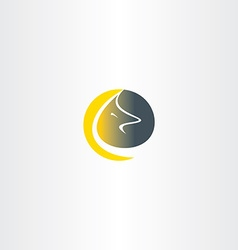 wolf moon logo icon vector image