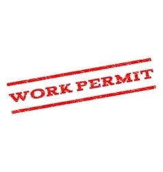 Work permit watermark stamp vector