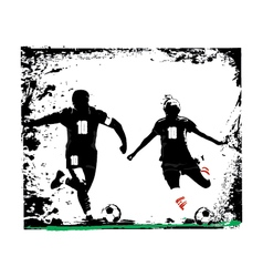 couple soccer vector image