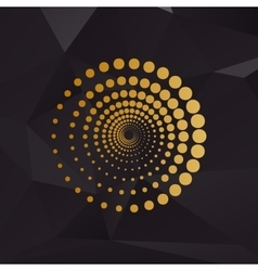 Abstract technology circles sign golden style on vector