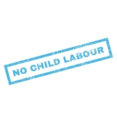 No child labour rubber stamp vector