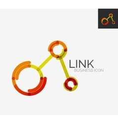 Minimal line design logo connection icon vector