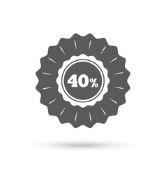 40 percent discount sign icon sale symbol vector