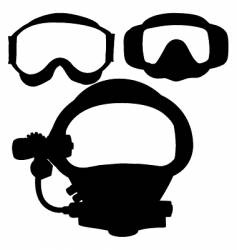 dive masks vector image