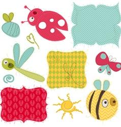 design elements for baby scrapbook vector image