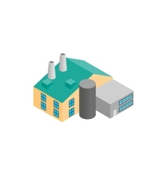 Factory isometric 3d icon vector