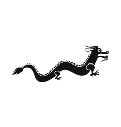 Chinese dragon icon simple style vector