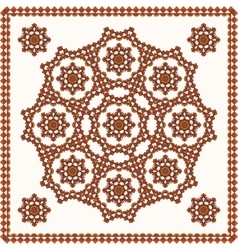 Oriental ornament on shawl vector