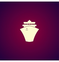 Ship icon Flat design style vector image