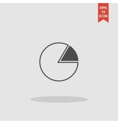 Business pie chart icon info graphics vector