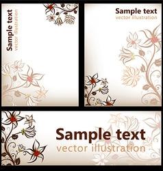 Autumn floral background set vector