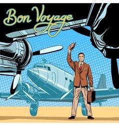 Businessman meets or accompanies departure vector