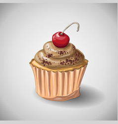 capcake chocolate hand draw vector image