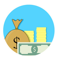 Capital money icon vector