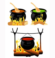 Cauldron set vector