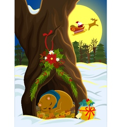 Christmas in the forest vector