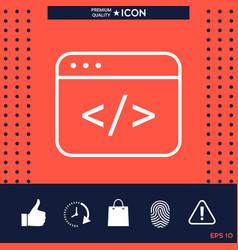 code editor icon vector image