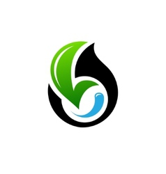 Conservation of oil fields sign vector