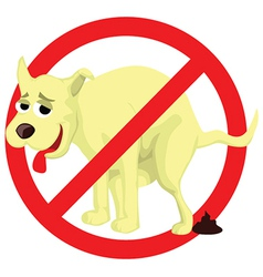 Dog poop sign vector image vector image